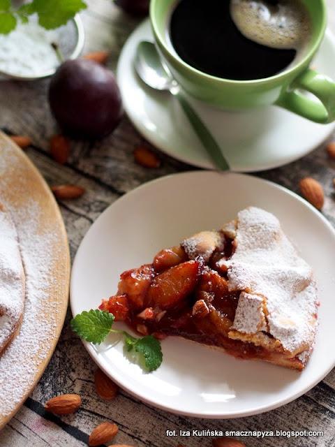 galette ze sliwkami, tarta sliwkowa, ciasto ze sliwkami, ciasto kruche, ciasto na niedziele, jak zrobic tarte ze sliwkami, latwa tarta z owocami