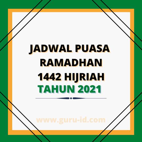 gambar jadwal puasa 2021 ramadhan 1442 Hijriah
