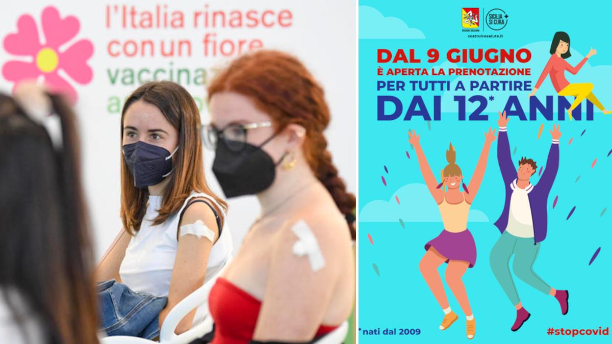Campagna vaccinale vaccino anti Covid ragazzi 12 15 anni Sicilia