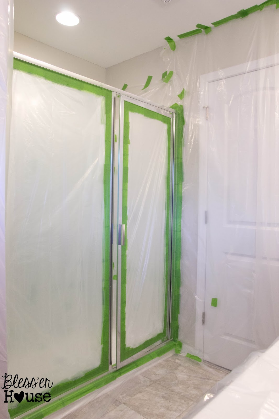 How Not To Paint A Shower Door And Fix Spray Mistakes