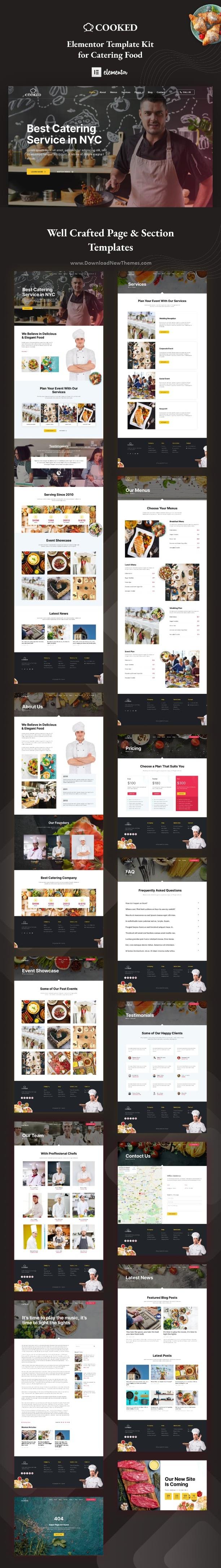 Catering & Restaurant Website Elementor Template Kit