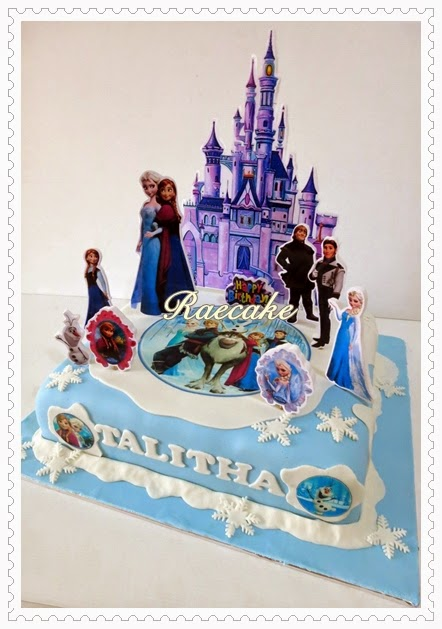 Frozen Cake For Talitha Kue Ulang Tahun Birthday Cake