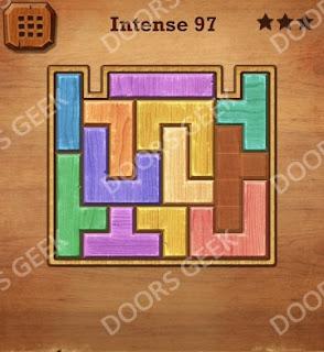 Cheats, Solutions, Walkthrough for Wood Block Puzzle Intense Level 97