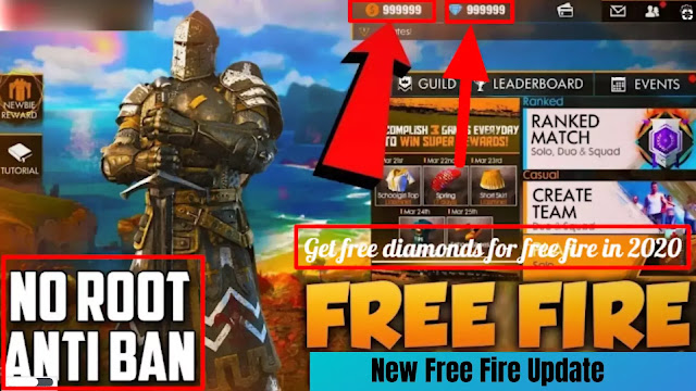 This image showing Get free diamonds for free fire in 2021