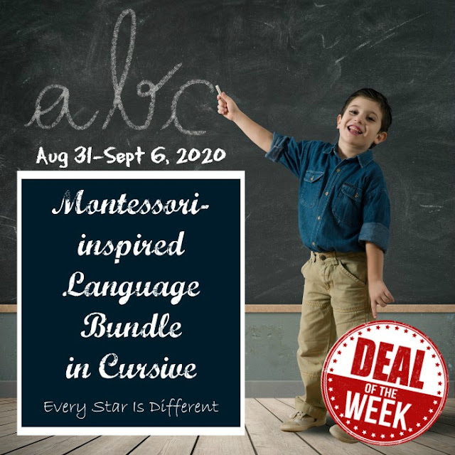 Deal of the Week: Montessori-inspired Language Bundle in Cursive