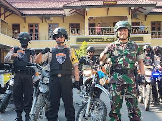 Antisipasi Rusuh Jakarta dan Sampang, Polres Lumajang dan KODIM 0821 Lumajang Gelar Patroli Bersama