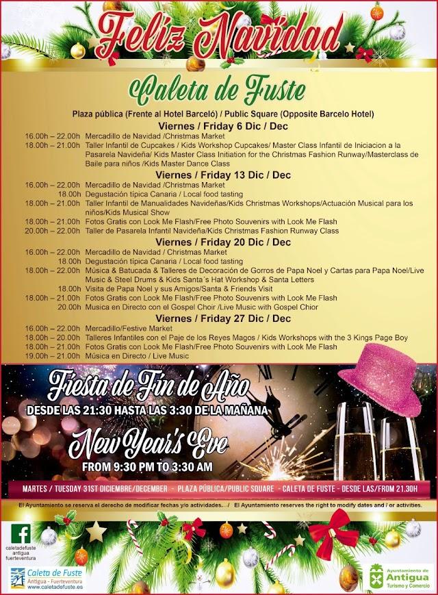 Fuerteventura.-  Primer Mercadillo de Navidad el viernes  6 de Diciembre en la Plaza de El Castillo