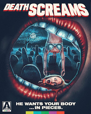 Cover art for Arrow Video's Limited Edition Blu-ray of DEATH SCREAMS!