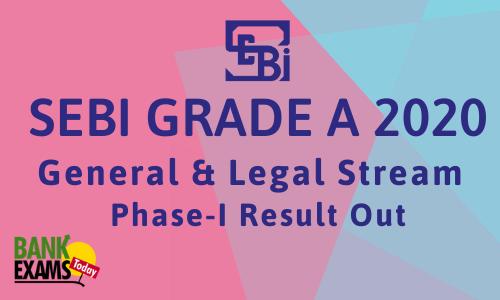 SEBI Grade A 2020 Phase I: Exam Result Out