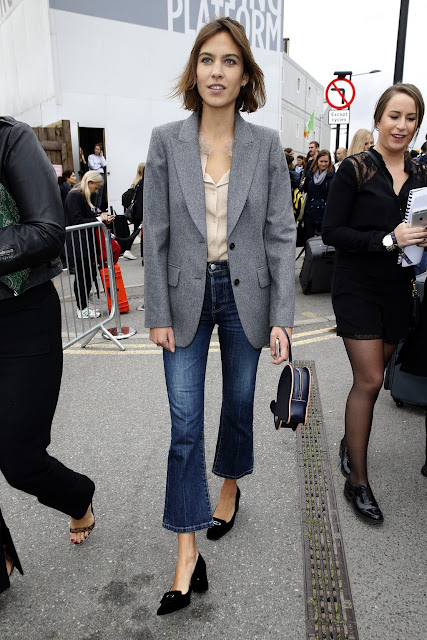 Alexa Chung - Cropped Flared Jeans
