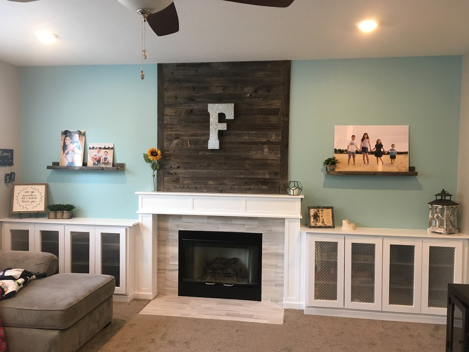 tools 4 moms fireplace wall makeover