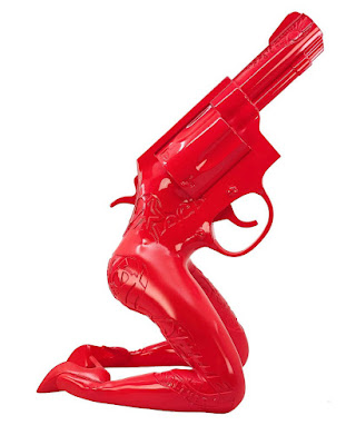 Designer Con Summer 2021 Exclusive Let's Bang Red Edition Resin Figure by Tristan Eaton x 3DRetro