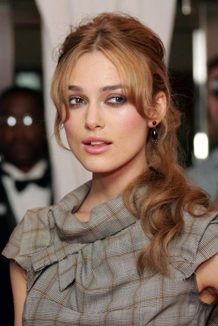 Keira Knightley Blonde Ponytail Hairstyle