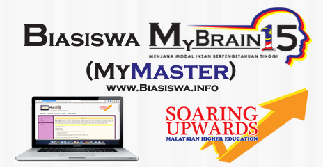 Permohonan Online Biasiswa MyBrain15 KPT - MyMaster2016 & MyPHD2016 Kini Dibuka