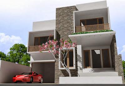 desain rumah minimalis modern 2 lantai terkini | desain
