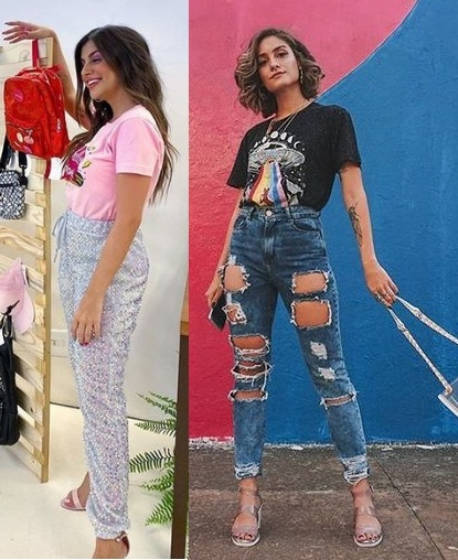 Looks inspiração com t-shirt, Nah Cardoso, Manu Gomes