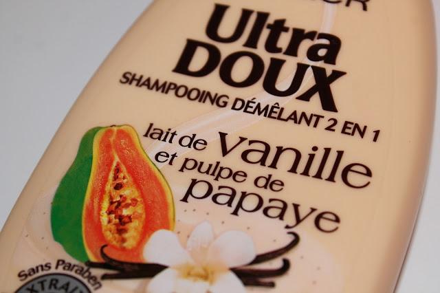 Shampooing Démêlant 2 en 1 Lait de Vanille et Pulpe de Papaye Ultra Doux - Garnier