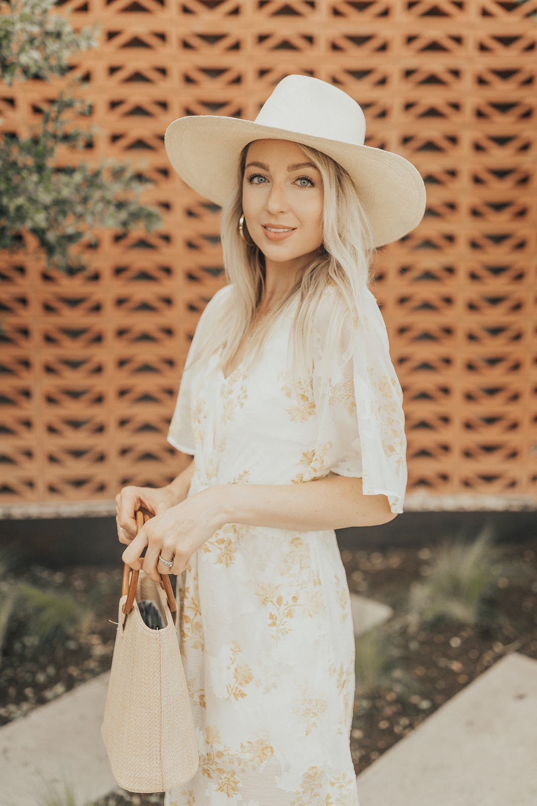 wide brim straw hat under $100 | Love, Lenore