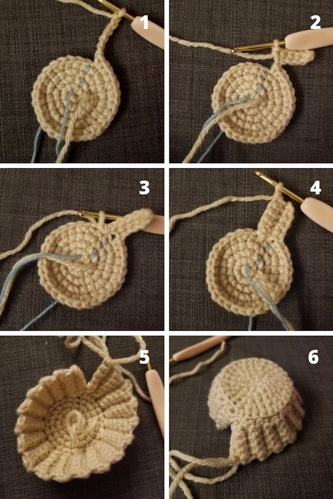 Hong Kong Egg Tart Play Food Amigurumi FREE Crochet Pattern