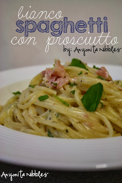 White Spaghetti with Prosciutto from Anyonita Nibbles