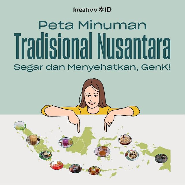 Peta Minuman Tradisional Nusantara Segar dan Menyehatkan