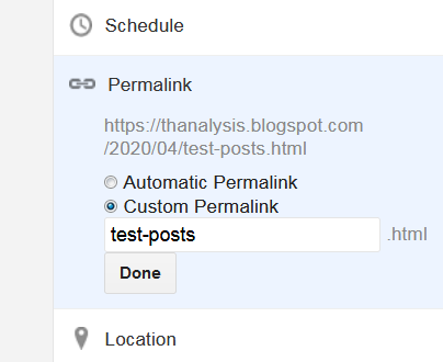 Custom permalink for post - Thanalysis