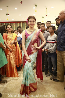 indian 2 tamil movie actress kajal agarwal grand launch of vidhatri shopping mall event Pictures 6