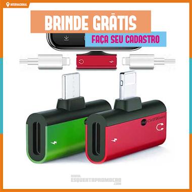 Brindes Grátis - Carregador de fone de ouvido para celulares