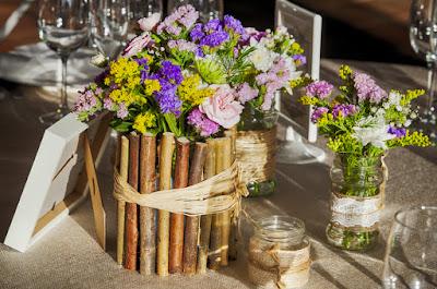 idee deco champetre pour table de mariage