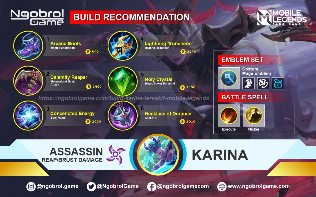 Build Karina Savage Mobile Legends