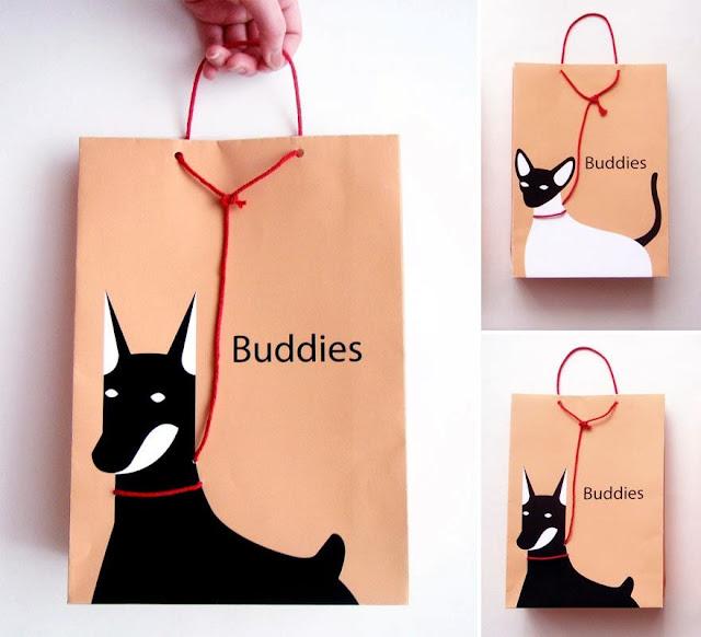 50 Desain Paper Bag/ Tas Belanja Kucing dan Anjing