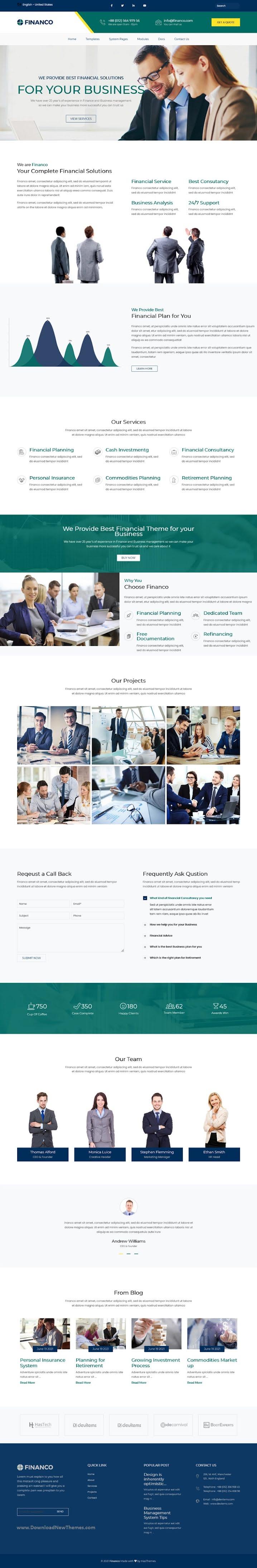 Financo - Investment HubSpot Theme