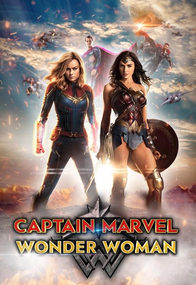 無敵のキャプテン・マーベルとワンダーウーマンの女子最強タッグ‼️