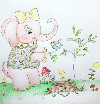 Little Curly (the eco-friendly girl) Woodland friends, animal, cute animals, elephant