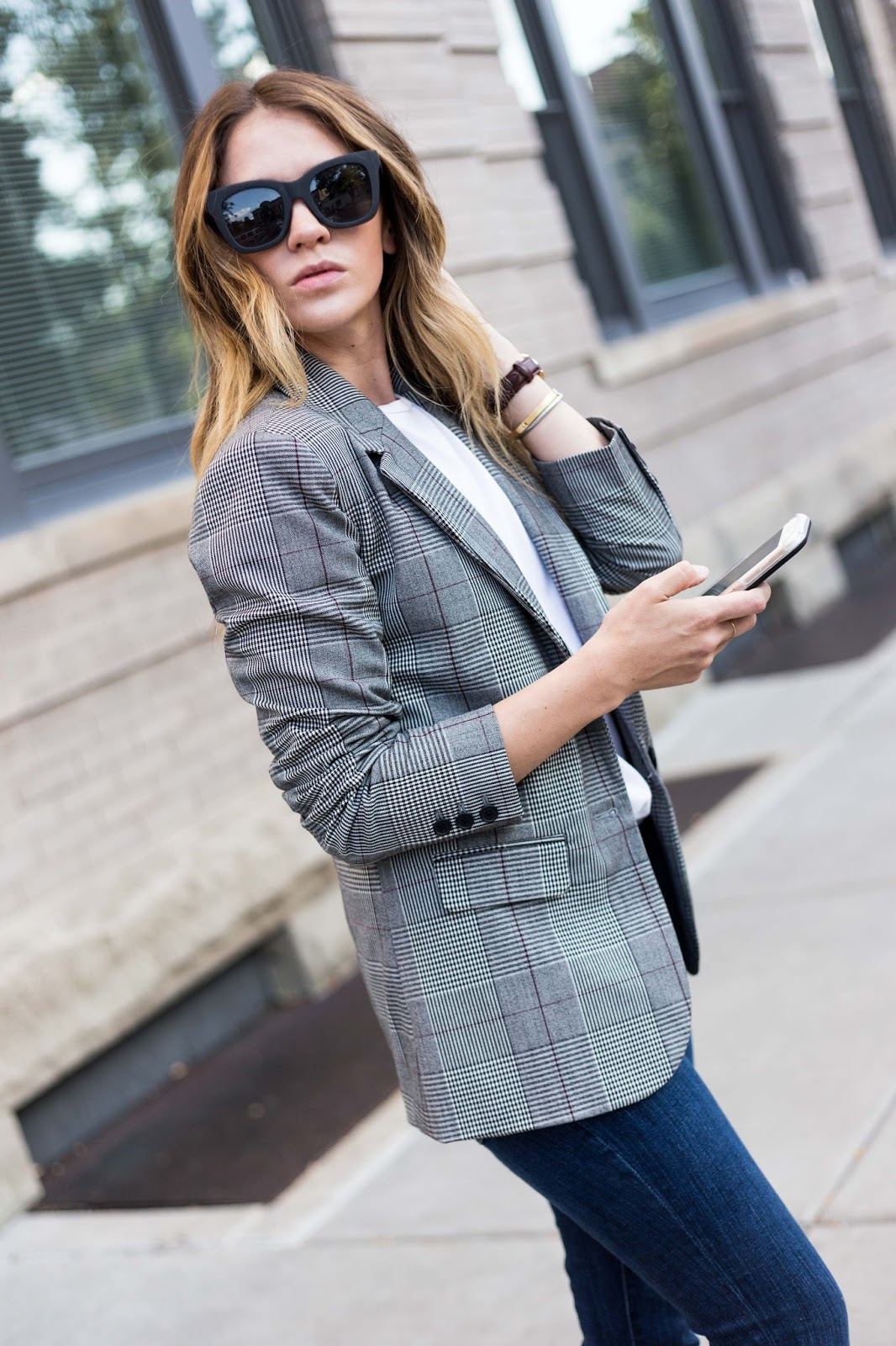 Plaid Boyfriend Blazer - Boyfriend Blazer by Colorado fashion blogger Eat Pray Wear Love