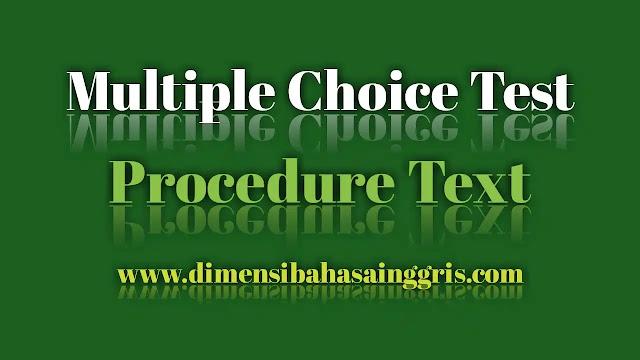 DBI - Procedure text: soal PG dan jawaban