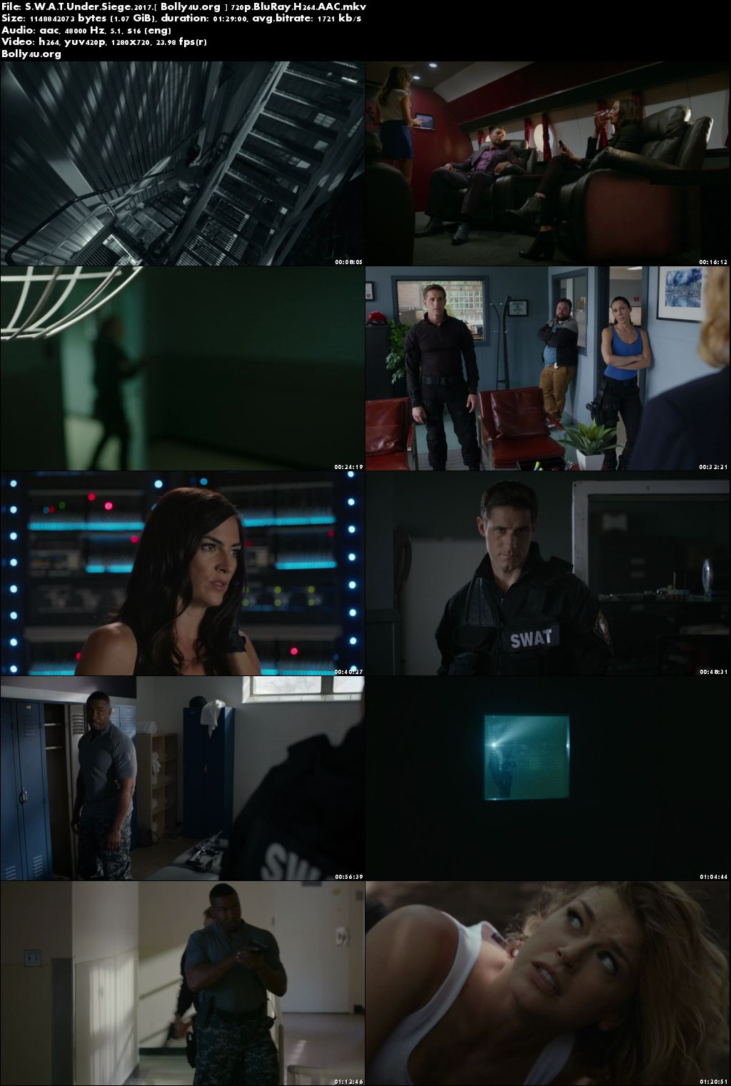S.W.A.T Under Siege 2017 BluRay Full English Movie Download 720p
