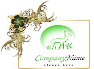 تحميل شعار غزاله في البريه مفتوح المصدر بصيغة PSD جاهز للتعديل بالفوتوشوب  Deer PSD Logo Design free Download