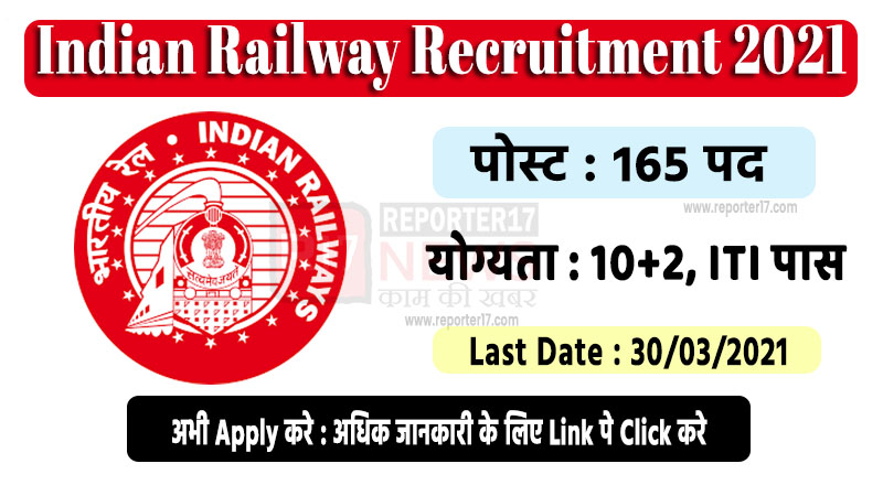 Indian Railway Recruitment 2021