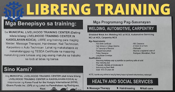 6 Libreng Training Hatid ng LTCiK, NHA at TESDA | WITH TESDA Certificate