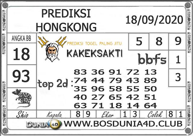 Prediksi Togel HONGKONG DUNIA4D 18 SEPTEMBER 2020