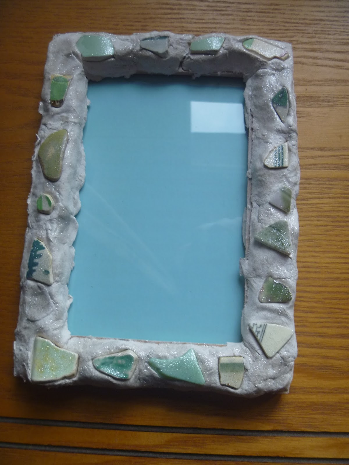 crafty green poet a crafty experiment decorated photo frame