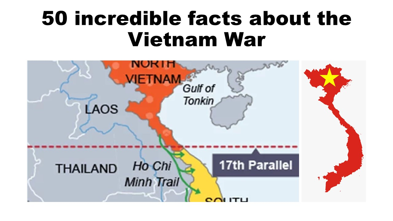 50 incredible facts about the Vietnam War   17th parallel line map vietnam