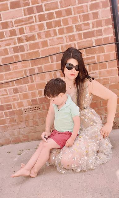 Self Portrait Star Mesh Midi Dress; Topshop Dita Leopard Print Block Heels; Heart Shaped Sunglasses