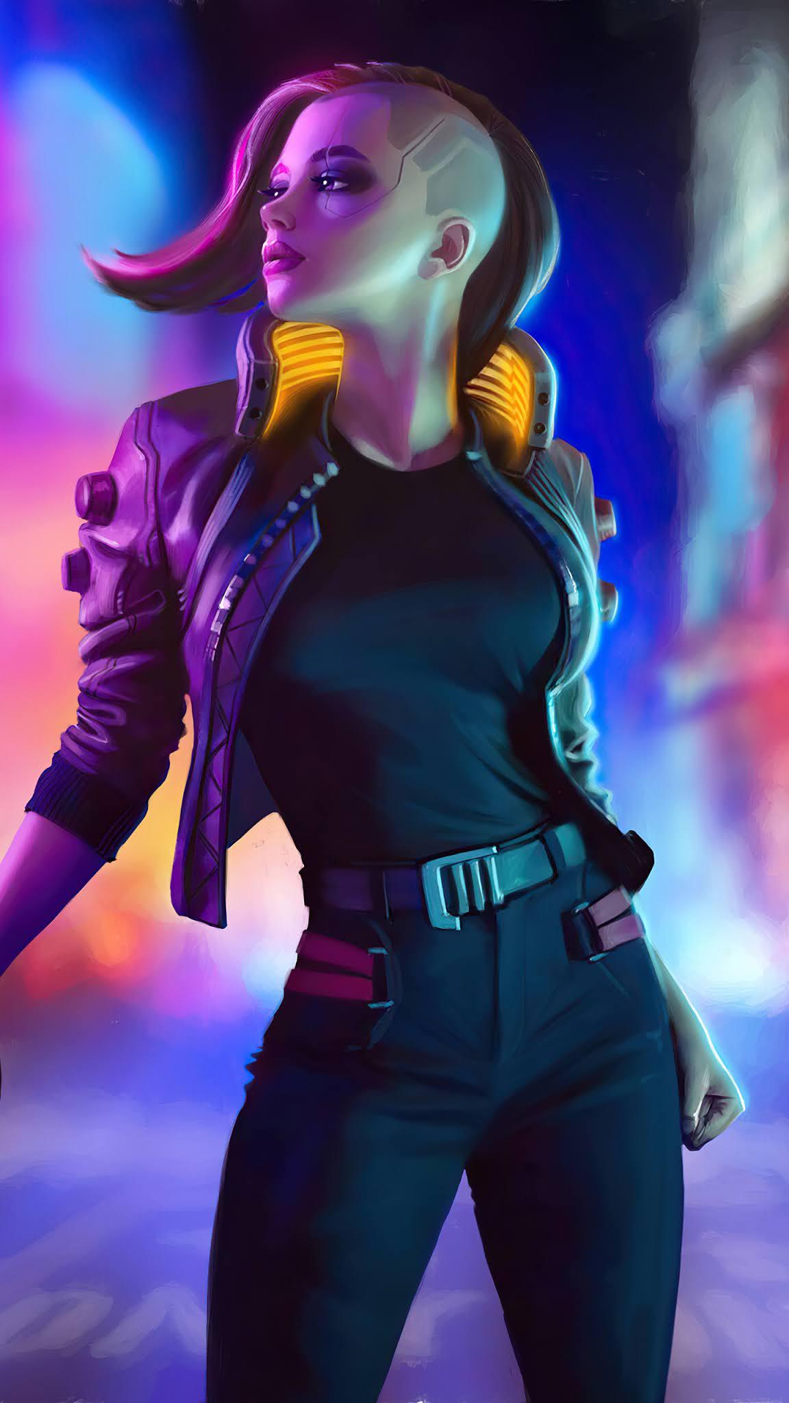 Cyberpunk 2077 Girl mobile wallpaper