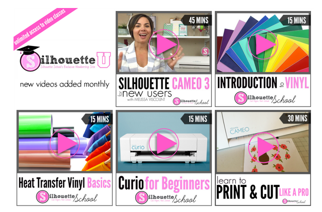 Online silhouette cameo video classes, online silhouette video courses, silhouette cameo videos, silhouette video tutorials beginners