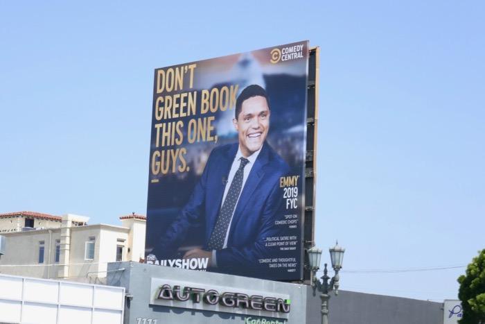 Daily Show Trevor Noah 2019 Emmy FYC billboard