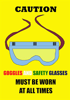 GOGGLES AND SAFETY GLASSES OH&S SIGNAGE