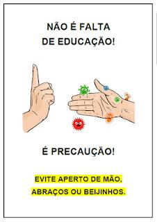 """Placa de aviso - """"Não aperte a mão"""""""