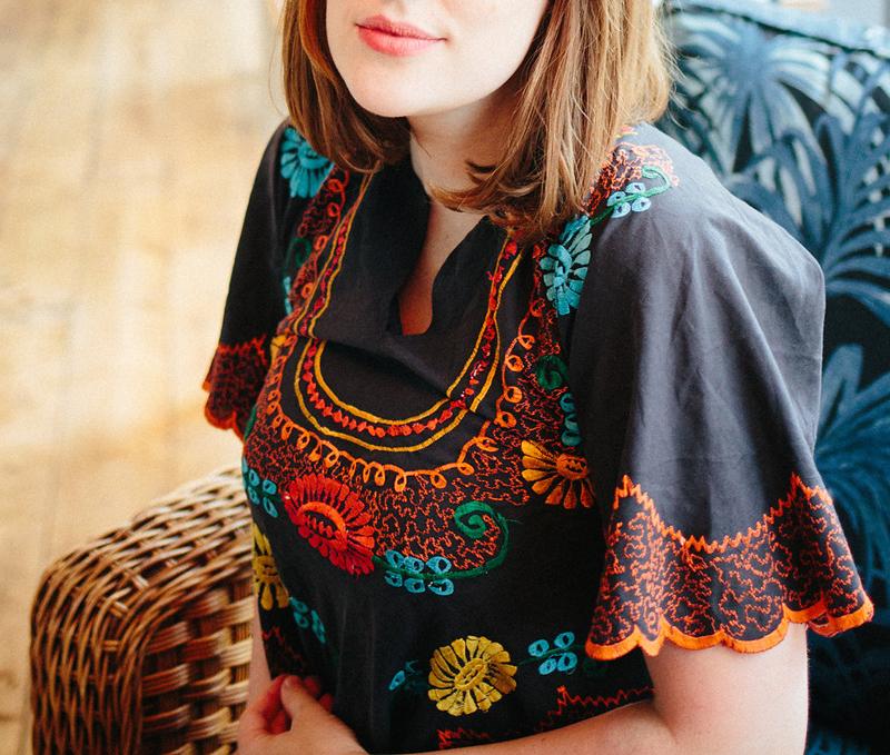 vintage Russian peasant blouse